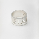 Cut Out Name Ring