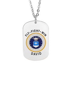 Air Force Tag Pendant with Engraving