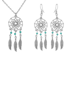 Dream Catcher Earring and Pendent Set