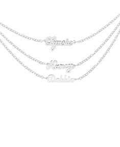 Drop Down Petite Name Necklace