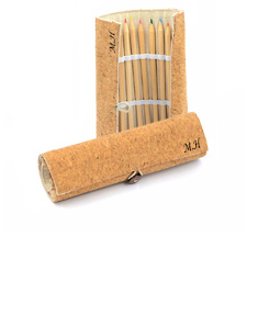 Personalized  Cork Eco-Friendly Drawing Pencil Set