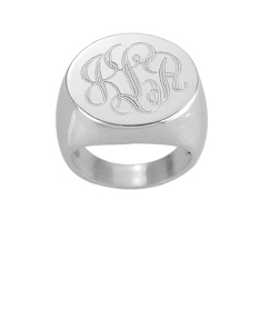 Signet Engraved Monogram Ring