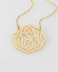 Fancy Script Monogram Necklace