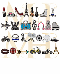Floating Fashion, Dance, Sport and Music Motifs For Locket