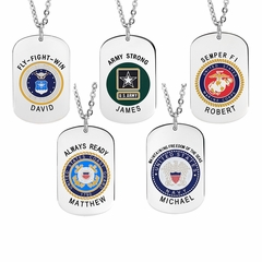 Four U.S. Army Tag Pendant with Name