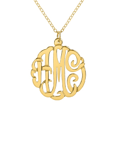 Long Script Monogram Pendant