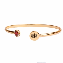 Heartstrings Monogrammed Stones Bangle
