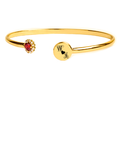 Heartstrings Stones Bangle with Couple's Initials