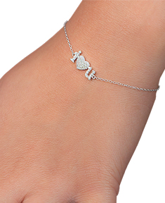 Sterling Silver I Heart You Bracelet