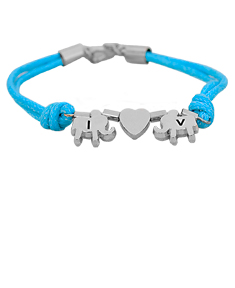 Lucky Elephant Bracelet with Initials