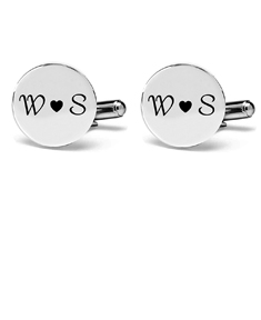 Cufflinks with Couple's Initials