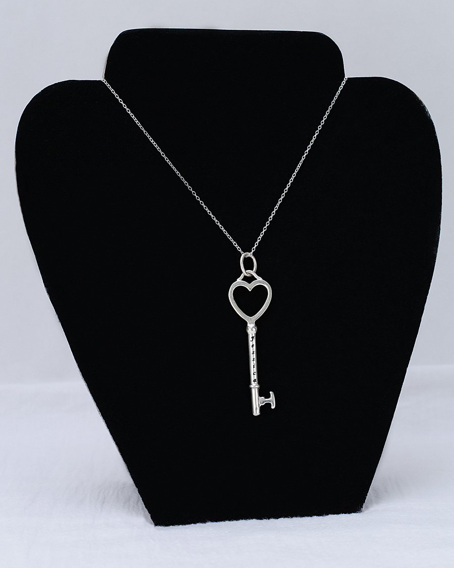 Key engravable name pendant aloadofball Choice Image