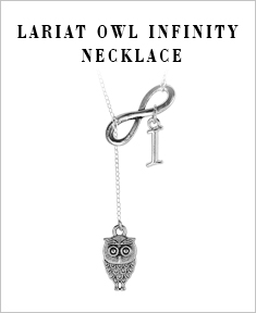 Lariat Owl Infinity Necklace