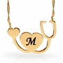 Laser Engraved I Love You Necklace