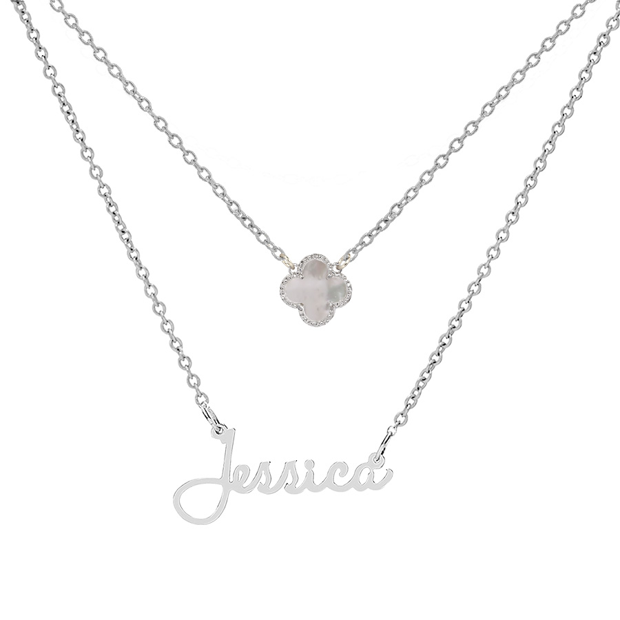 u0026quot jessica u0026quot  necklace with motif