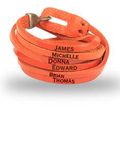 Leather Engraved Name Bracelet