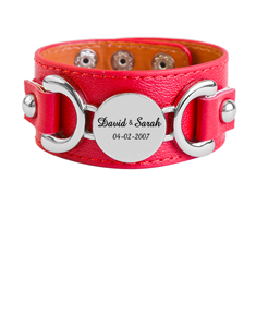 Red Bracelet with Couple's Names