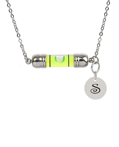 Leveler Necklace with Initial