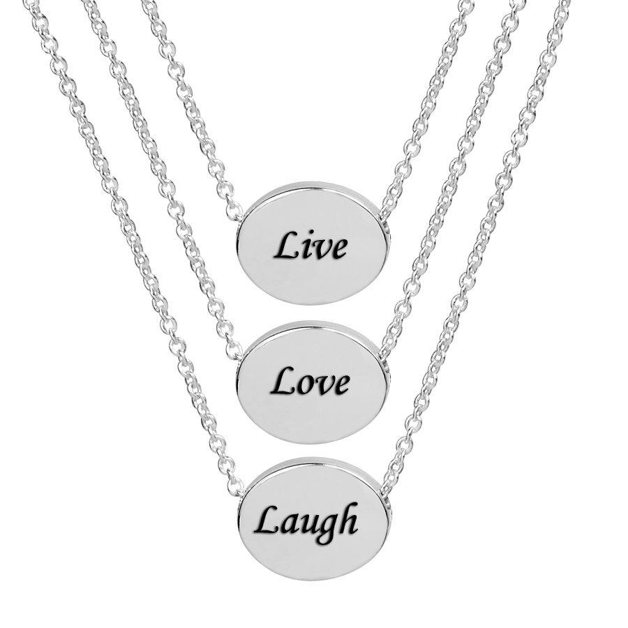 Live love laugh necklace aloadofball Gallery