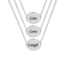 Live, Love & Laugh Necklace