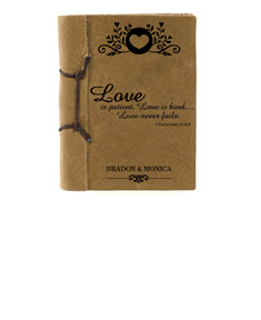"""""""Love"""" Antiqued Style Notebook"""