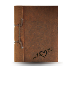 """Love"" Personalized Brown Note Book"