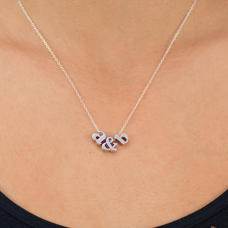 lower case initial necklace