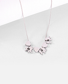 Lucky Engravable Elephant Necklace