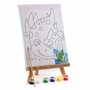 Mini Canvas & Wooden Painting Easel Set