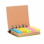 Mini Eco-Friendly Cork Spiral Book w/ Sticky Notes And Flags