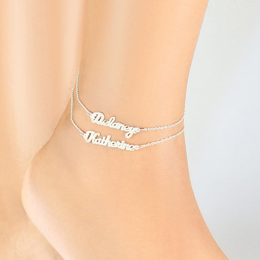 anklet surfer tone real ankle girl bracelets pin platinum nautical silver