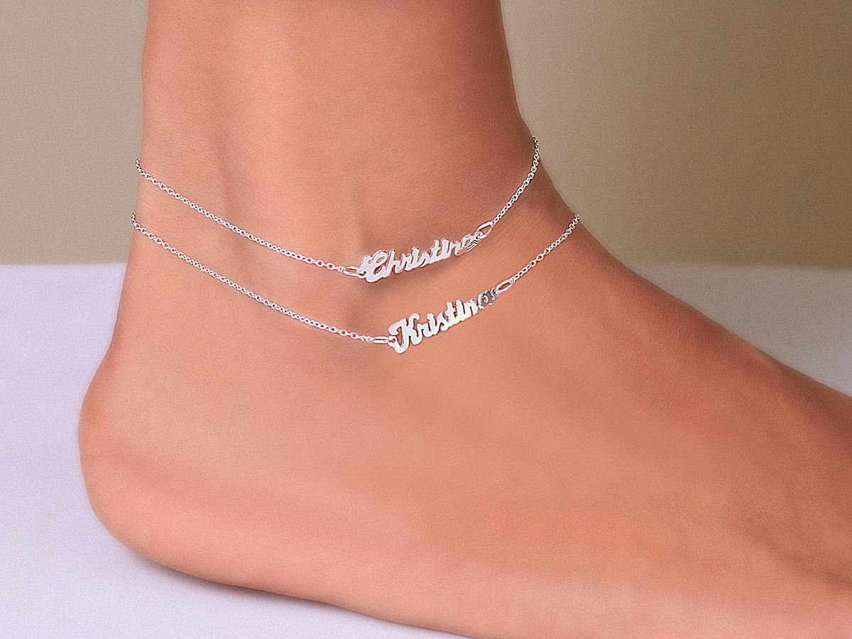 bracelets bling chain cool small jta jewelry bracelet anklet silver ankle heart appl ball