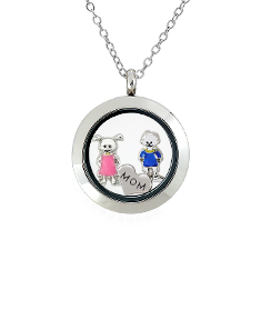 Mom's Locket with Floating  Motifs