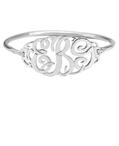 Monogram Clasp Bangle