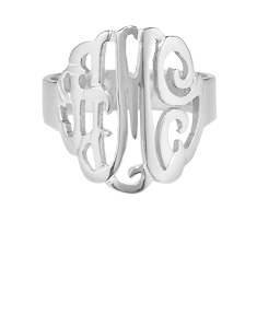 Short Monogram Ring