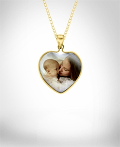 Mother of Pearl Photo Charm