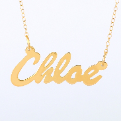 "Gold Name Necklace ""Chloe"""