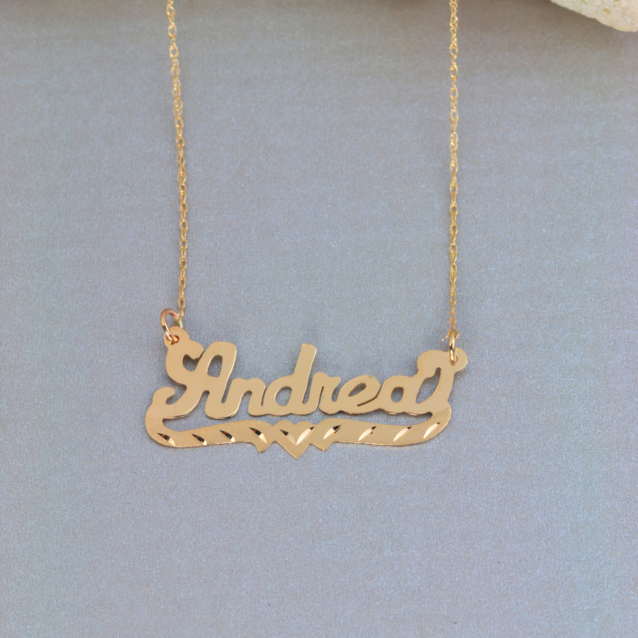 "Name Necklace w/beading ""Andrea"""