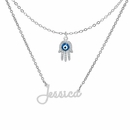 Name Necklace with Hamsa