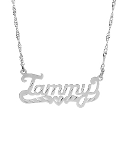 """Tammy"" Name Pendant in Diamond cut"
