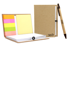 Notebook With Sticky Notes And Flags