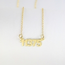 Zip code necklace