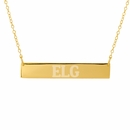 Horizontal Bar Name Necklace