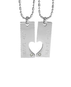 Our Hope Our Love Couple's Pendants with Stone