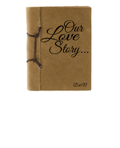 """""""Our Love Story""""Antiqued Style Notebook"""