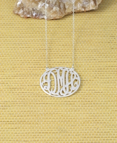 Circle Script Monogram Necklace