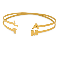 Personalized Bangle with Four Initials