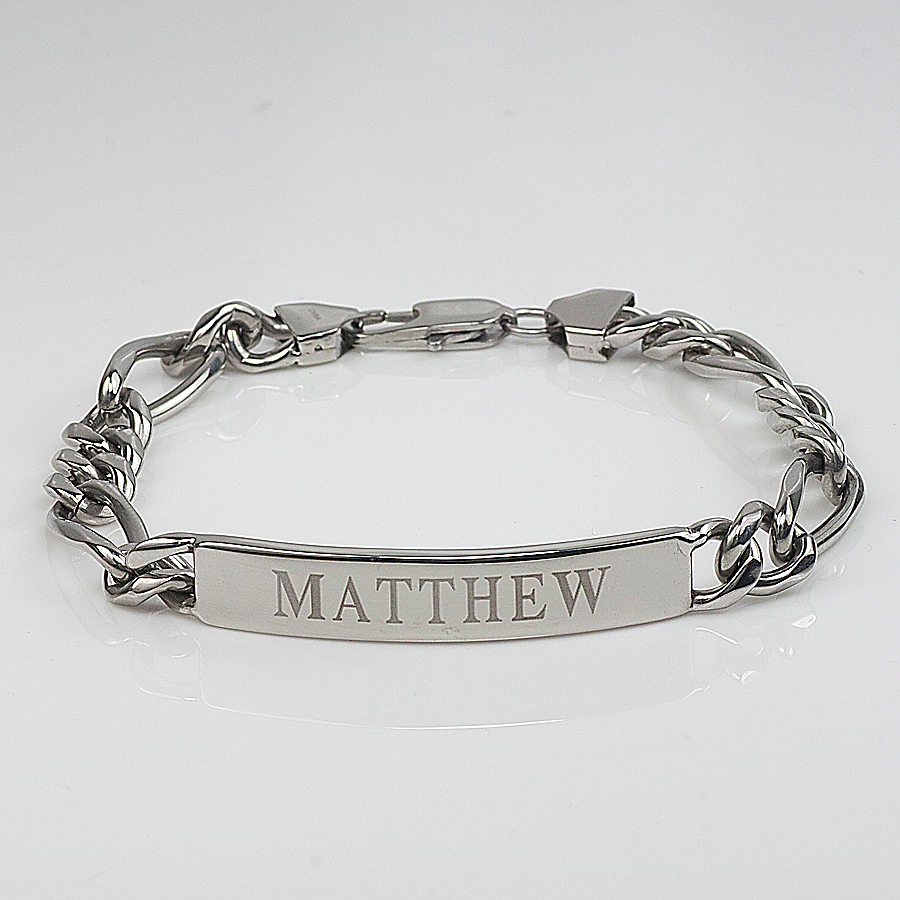 personalized engraved stainless steel bracelet