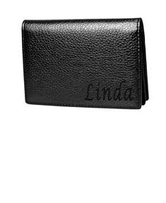 Personalized Flip Card Holder
