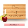 Personalized State Cutting Board